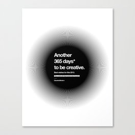 365 Days - Black Canvas Print