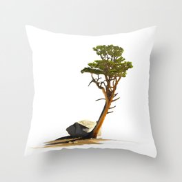 Lone Foxtail Pine Throw Pillow