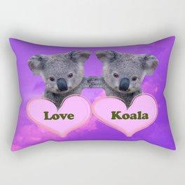 Koalas Love and Hearts Rectangular Pillow