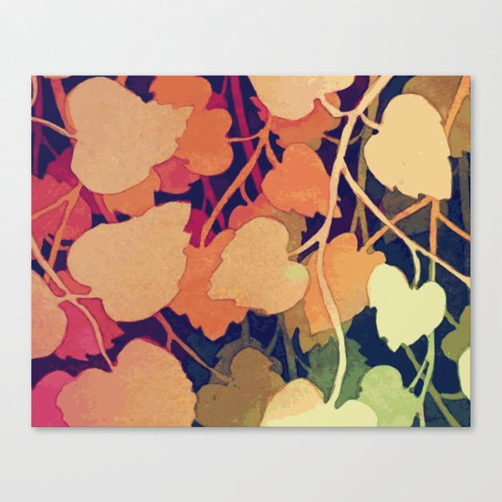 Floral abstract wall art Canvas Print