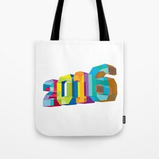 2016 New Year Low Polygon Tote Bag