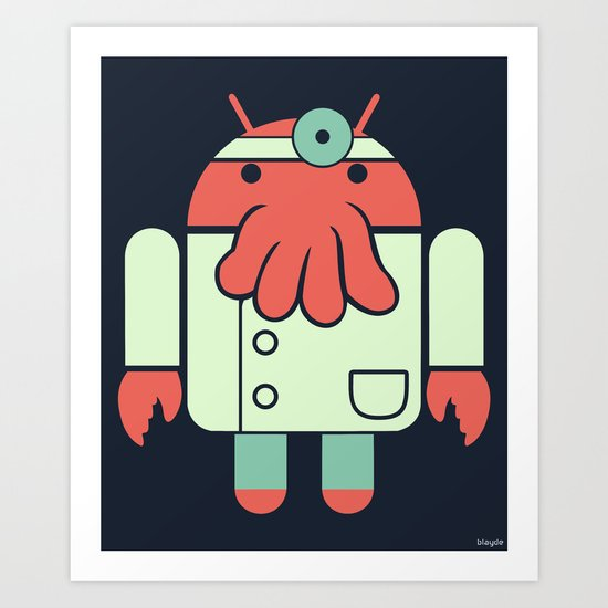 Why not Droidberg Art Print