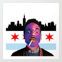 chance the rapper Art Prints featuring Chance The Rapper by Emma Scintu