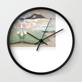 BOATS INTO A SURREAL GRAPHIC WORLD Wall Clock