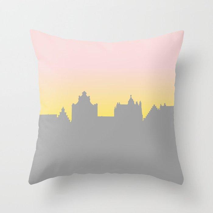 Sunset Skyline Throw Pillow