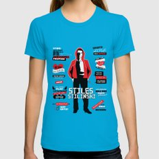 Stiles Stilinski Quotes Teen Wolf X-LARGE Womens Fitted Tee Teal