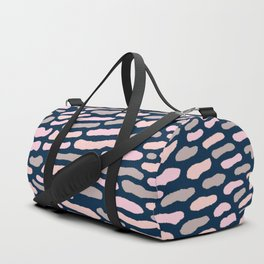 Organic Abstract Navy Blue Duffle Bag