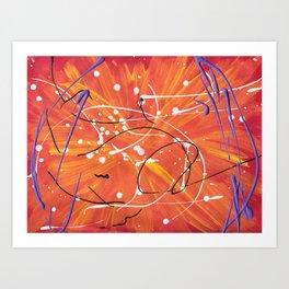 Surprising Sun Rays Art Print
