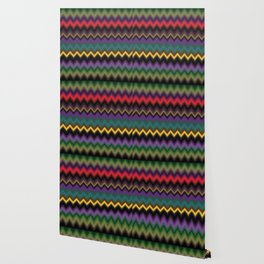 Zigzag Stripe Ethnic Face Wallpaper