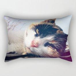 cat lying Rectangular Pillow