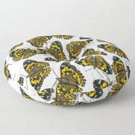 Painted lady butterfly pattern Floor Pillow