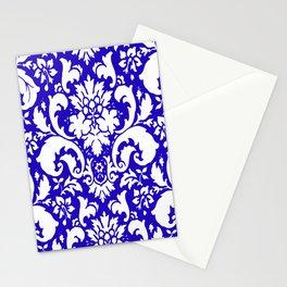 Paisley Damask Blue and White Stationery Cards