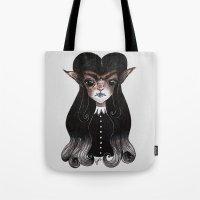 werewolf Tote Bags featuring Werewolf by Leah Jade