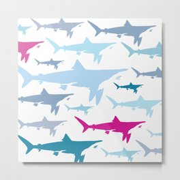 Shark Tank Metal Print