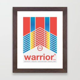 warrior single hop Framed Art Print