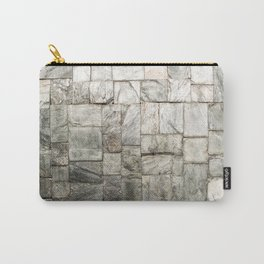 Grey Cold Stone Masonry Wall Carry-All Pouch