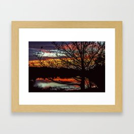 Halibut Point Sunset Framed Art Print