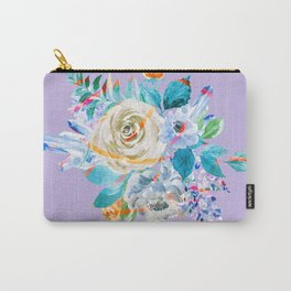Flowers And Gemstones Wreath Carry-All Pouch