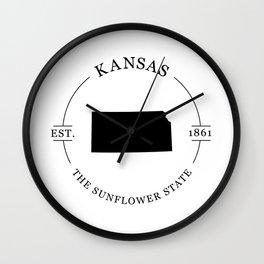 Kansas - The Sunflower State Wall Clock