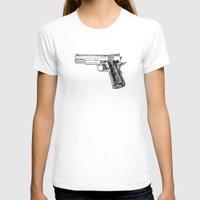 gun T-shirts featuring GUN by Seth Beukes