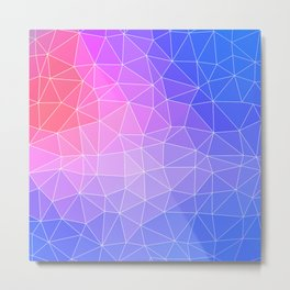 Abstract Colorful Flashy Geometric Triangulate Design Metal Print