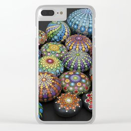 Mandala painted stones 2 - Photography Clear iPhone Case