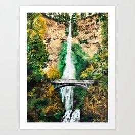 Multnomah Falls Art Print