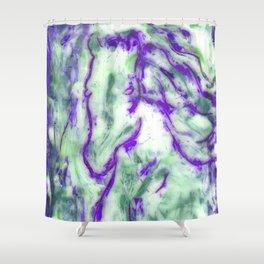 Encaustic Horse (Purple) Shower Curtain