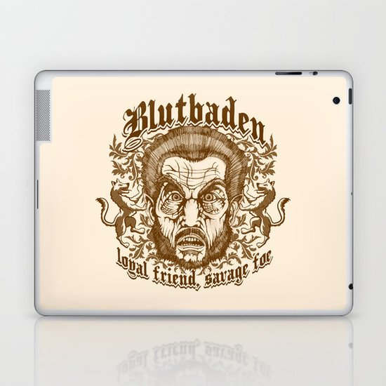 Blutbaden Sepia Laptop & iPad Skin