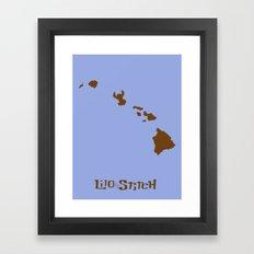 Lilo and Stitch Framed Art Print