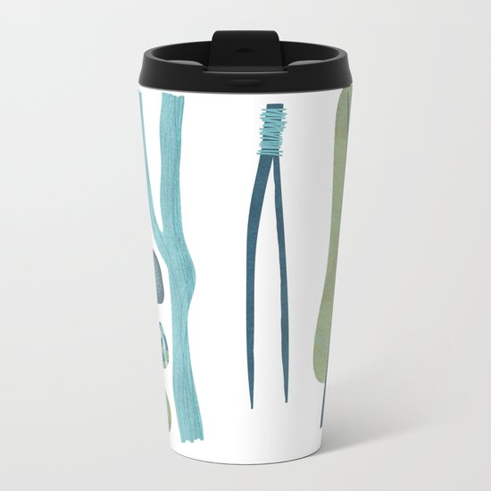 Sticks and Stones Metal Travel Mug