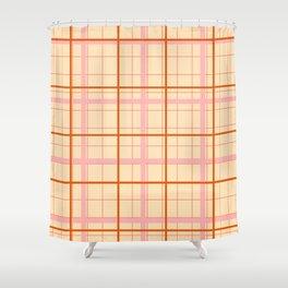 grid check layer_beige Shower Curtain