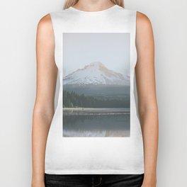 Trillium Lake Sunrise - Nature Photography Biker Tank