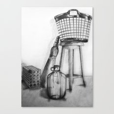 hand drawing objects Canvas Print