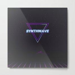 Synthwave Aesthetic Metal Print