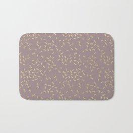 Dragonflies on purple - gold touch Bath Mat