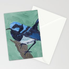 Superb fairy wren Stationery Cards