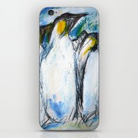 penguins iPhone & iPod Skins featuring Penguins by James Peart