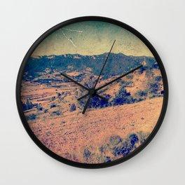 Dry Vintage desert landscape Wall Clock