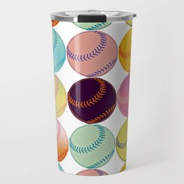 Pop Art Baseballs Travel Mug