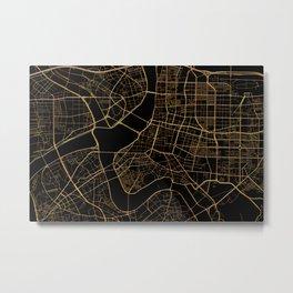 Taipei map, Taiwan Metal Print