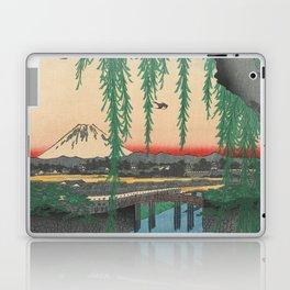 Mount Fuji from Yatsumi Bridge Ukiyo-e Japanese Art Laptop & iPad Skin