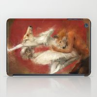 kitsune iPad Cases featuring Kitsune Ballet by Badmiaou