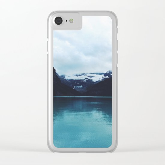 Moody Lake Louise Clear iPhone Case