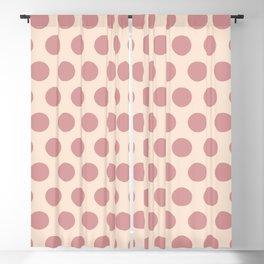 Dusty Rose Polka Dots 771 Blackout Curtain