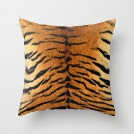 Faux Siberian Tiger Skin Design Throw Pillow