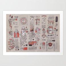 Bastante (A Lot) Art Print