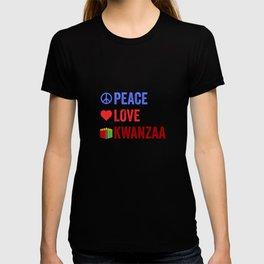 Peace Love Kwanzaa African American Black Holiday T-shirt
