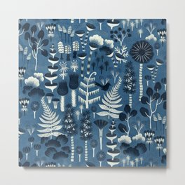 Fairytale forest pattern Metal Print