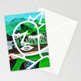 King of Seagulls - Impressionist Abstract painting Stationery Cards